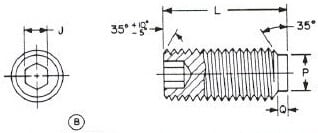 MS21342 Fluted, Alloy, Cad Plated, Socket Set Screw